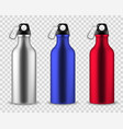 metal water bottle drinking reusable bottles vector image