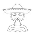 mexicanhuman race single icon in outline style vector image vector image