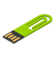 mini usb flash icon isometric style vector image vector image