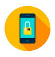 mobile secure circle icon vector image vector image