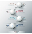 Modern infographic options banner vector image vector image