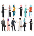 muslim arabic business people isolated collection vector image