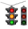 Old traffic light hanging vector image