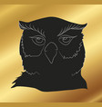owl stands drawing silhouette vector image vector image
