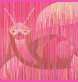 pink erotic snail in exclusive geometric style vector image vector image