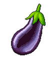 pixel whole eggplant detailed isolated vector image