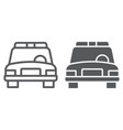 police car and glyphicon automobile and patrol vector image vector image
