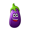 Purple cartoon eggplant vegetable or brinjal
