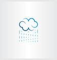 rain and cloud logo icon symbol vector image vector image
