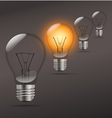 Realistic Light Bulb vector image vector image