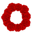 red rose wreath vector image