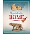 Rome retro poster vector image vector image