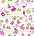 seamless pattern for easters design vector image vector image
