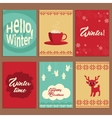 Set of cute cards about winter vector image vector image