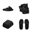 shoes oil refining and or web icon in black style vector image vector image