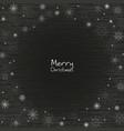 snowflake frame on blackboard vector image