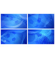 soccer backgrounds in blue colors vector image vector image