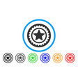 star medal seal rounded icon vector image vector image