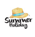 summer holiday hat white background image vector image vector image