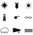 swim icon set vector image vector image