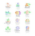 welness zen yoga herbal center healthy food vector image vector image
