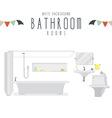 White Background Bathroom vector image