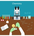Chemistry research in laboratory vector image