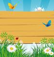 summer wood vector image