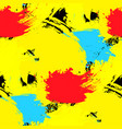 brushstrokes seamless pattern bright colors vector image