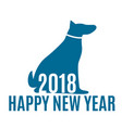 2018 year of dog happpy new year background vector image
