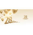 28th anniversary celebration background vector image vector image