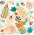abstract autumn pattern vector image vector image