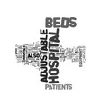 adjustable beds in hospitals text word cloud vector image vector image