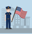 american police officer vector image