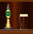 beer on the bar vector image vector image