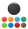 best graph icons color set vector image