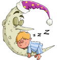 boy sleeps vector image vector image