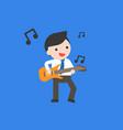 businessman play guitar flat design vector image vector image