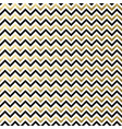 chevron black white gold pattern vector image vector image