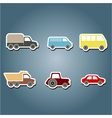 color icons with car icons vector image