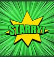 comic bright explosive green concept vector image vector image