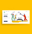 couple characters fighting with mosquito at night vector image vector image