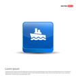 cruise icon - 3d blue button vector image