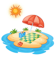 Deserted Island vector image vector image