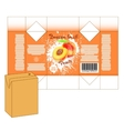 Design of small juice or milk shake box vector image vector image