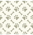 Dog paw footprint seamless pattern vector image vector image