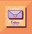 email love online dating card cartoon vector image
