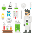 Flat design mad scientist item set vector image vector image