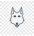fox concept linear icon isolated on transparent vector image