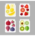Fruits in a glass jar vector image vector image